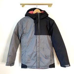 Columbia Grey & Black Heavy Ski/Snow Jacket  -Sz L